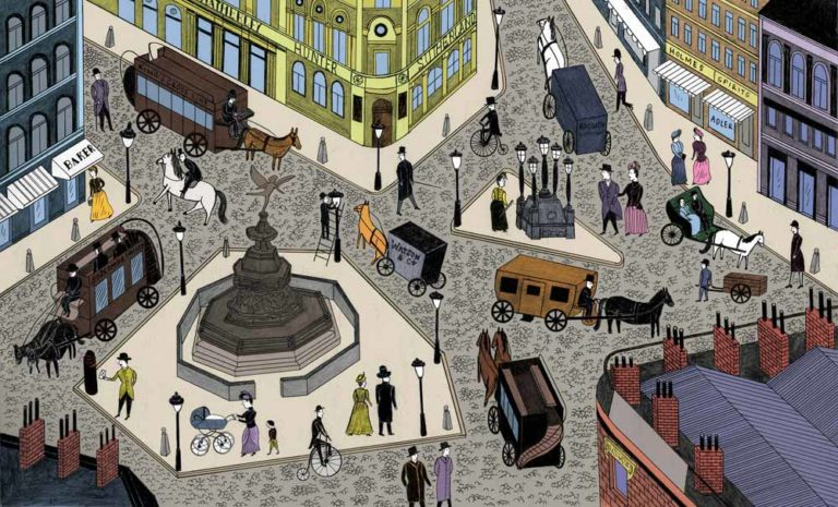 Rockport's Sherlock Holmes internal illustration