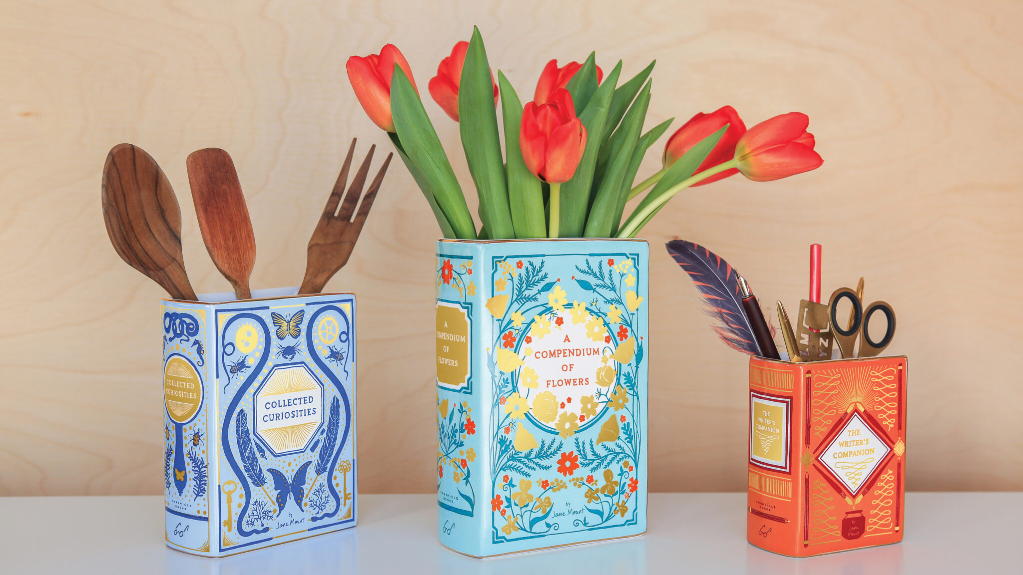 Bibliophile vases by Jane Mount, Chronicle Books
