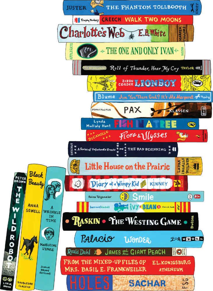 bibliophile kids book pile