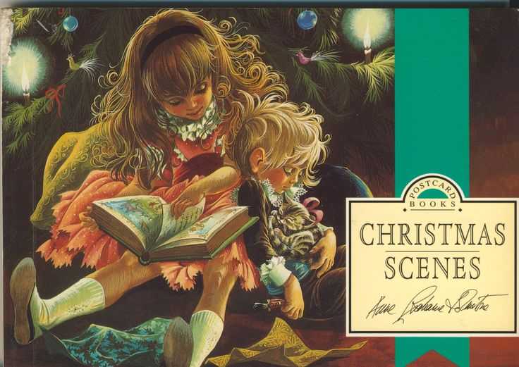 Anne Grahame Johnstone Christmas Scenes Postcard Book