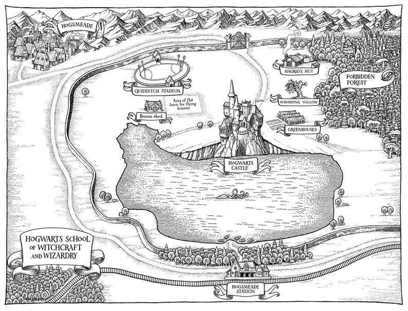 harry potter hogwarts map by tomislav tomic beedle