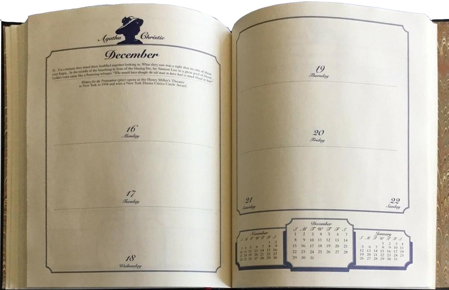 Bantam Christie Engagement Diary int 4 web