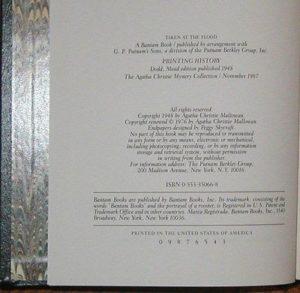 agatha christie bantam books taken at the flood isbn 1