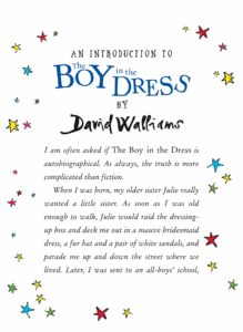 david walliams boy in the dress 10th ed intro