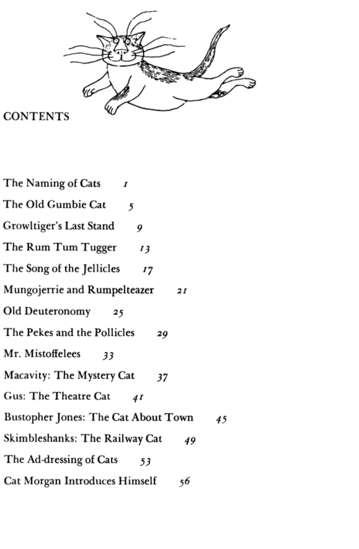 old possums cats contents