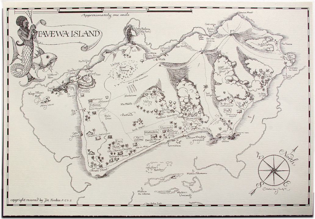 2012 CVS Ephemera Tavewa Island map