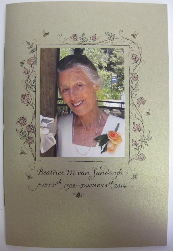 2014 CVS Beatrice M van Sandwyk