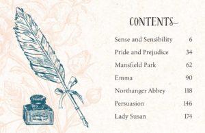 Tiny Jane Austen contents