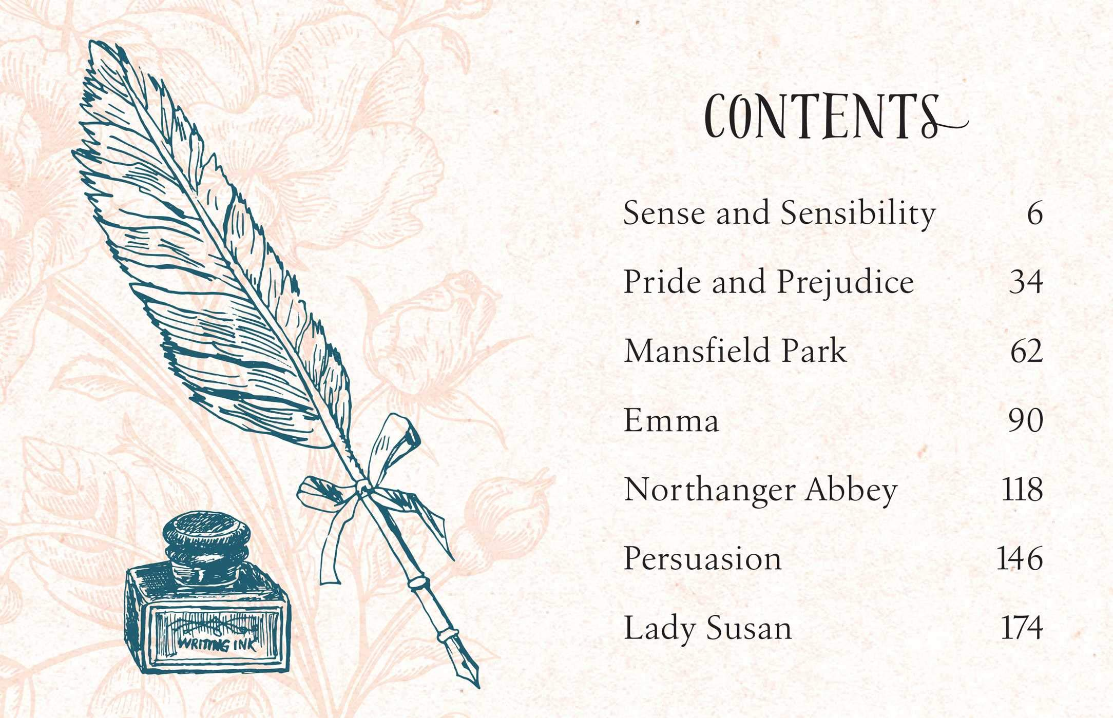 Tiny Jane Austen contents