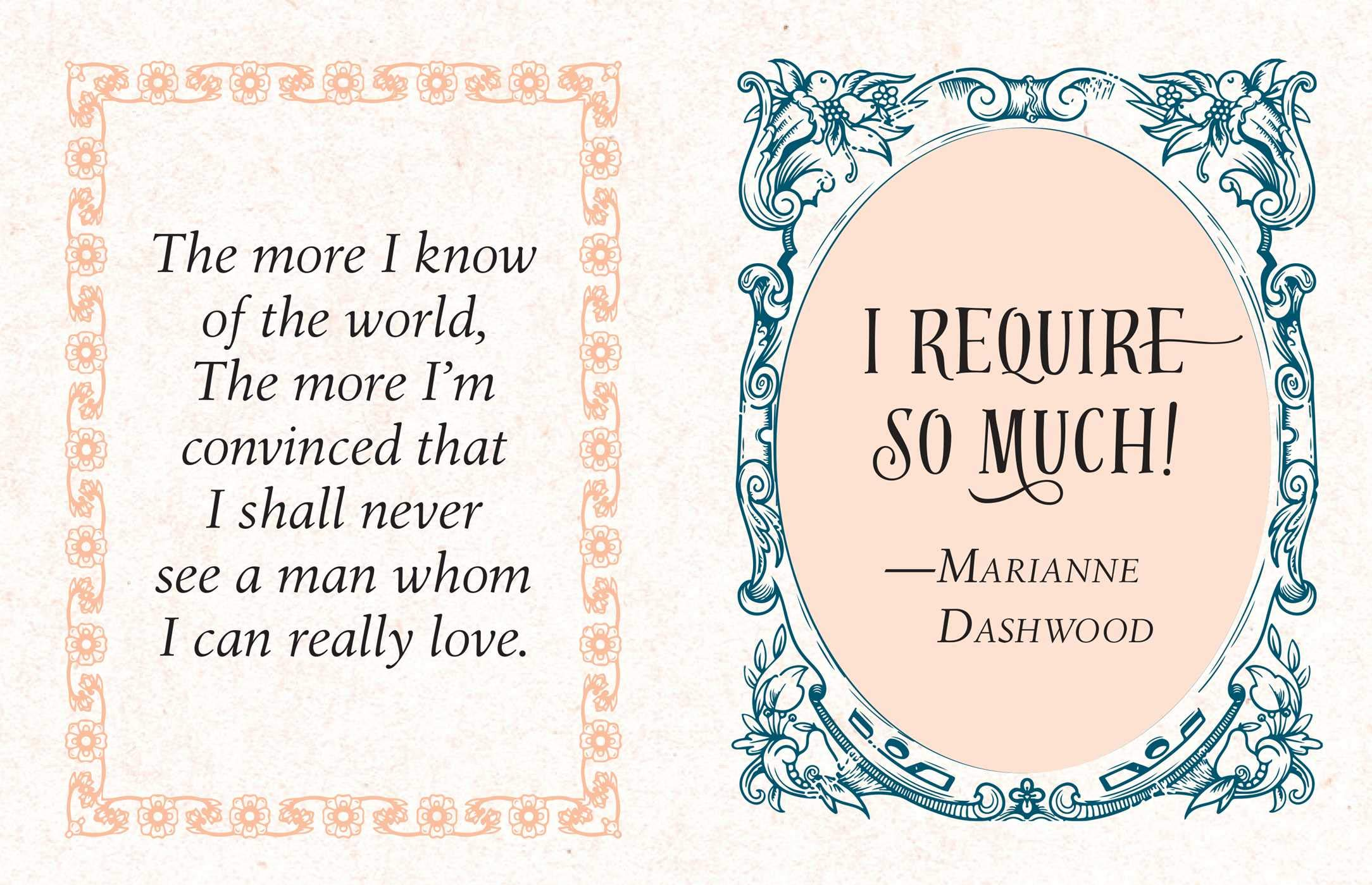 Tiny Jane Austen quote