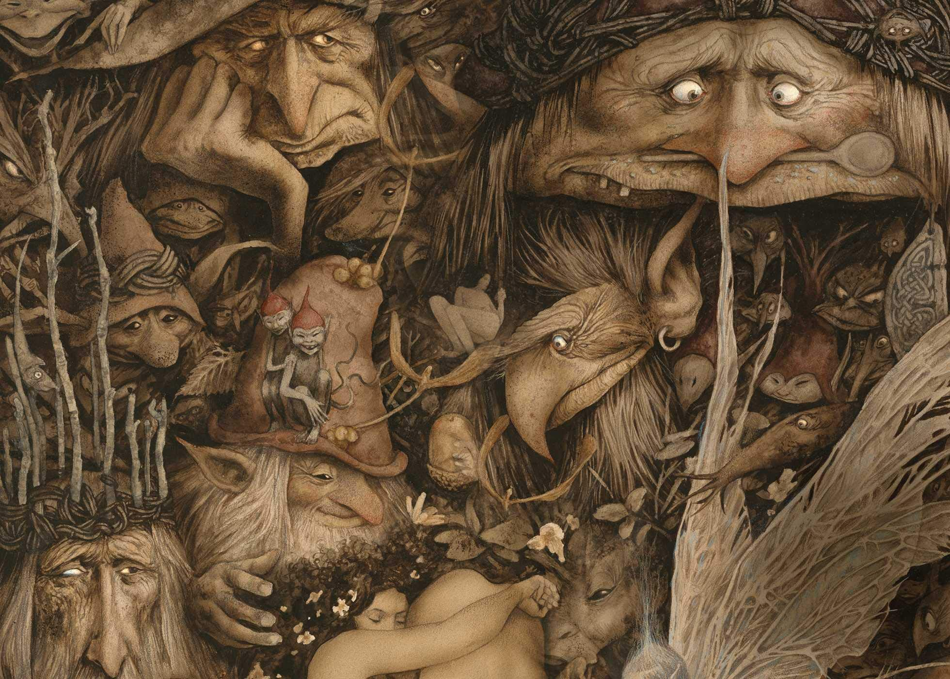 brian froud sketchbook endpapers