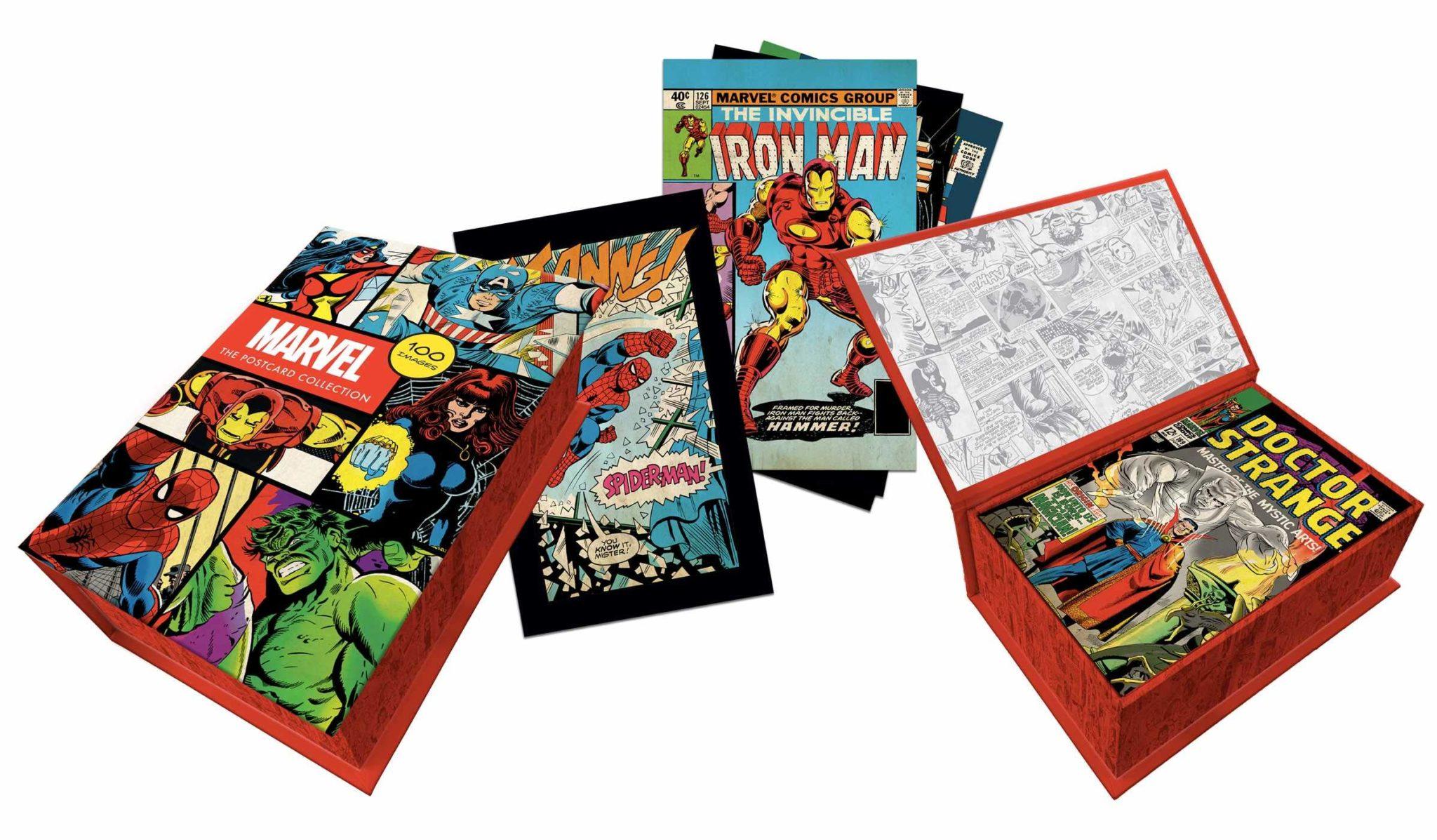 marvel comics postcards box