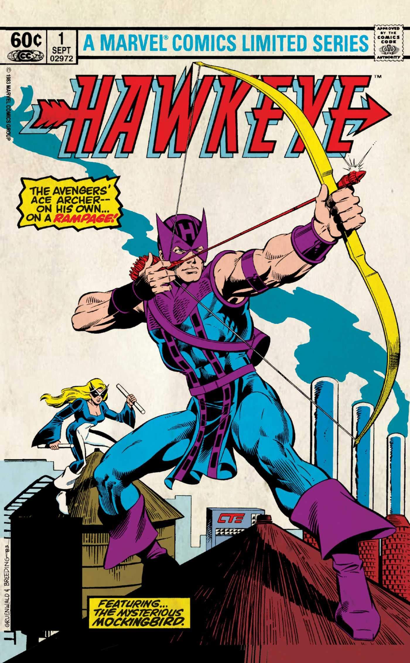marvel comics postcards hawkeye