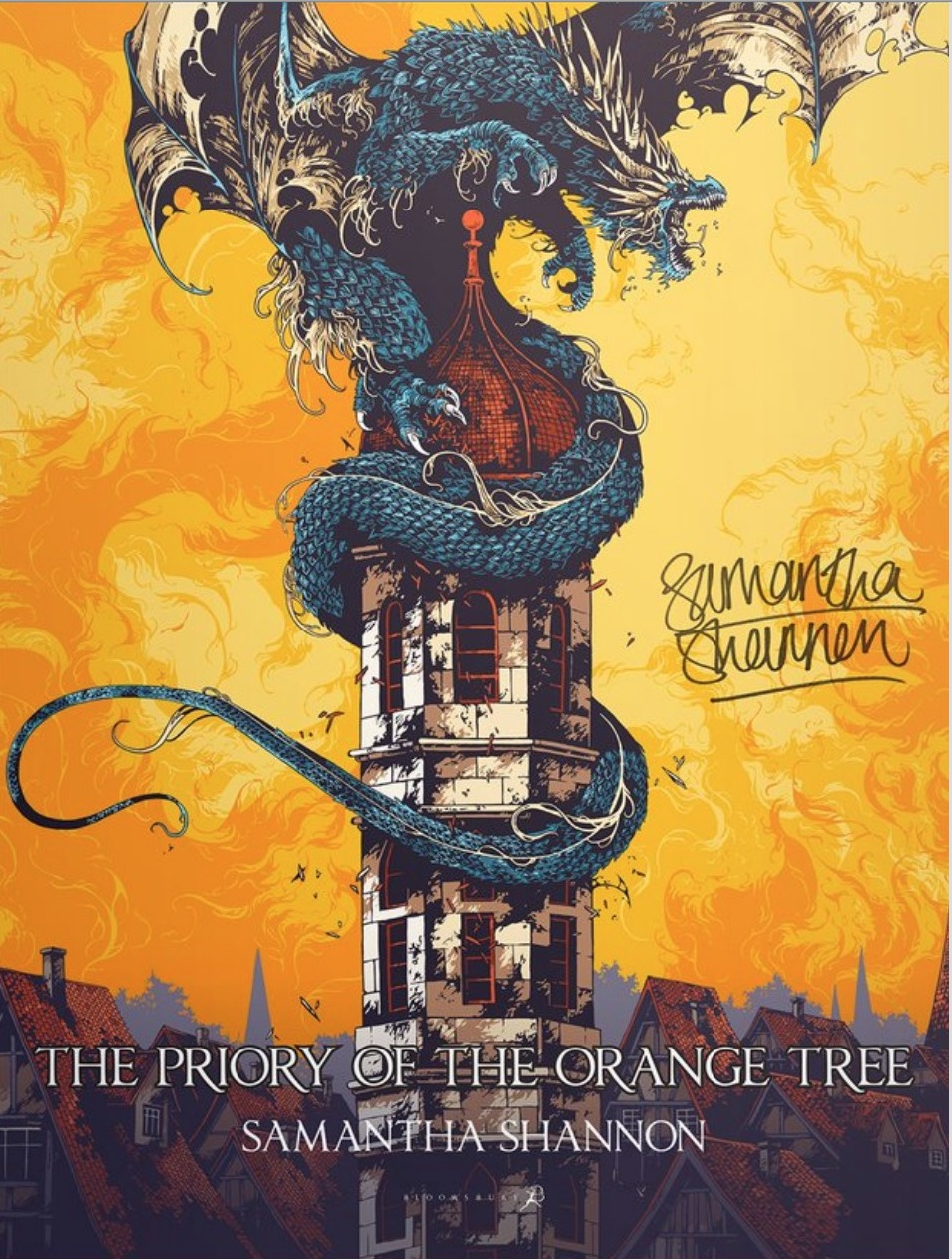 priory orange tree poster