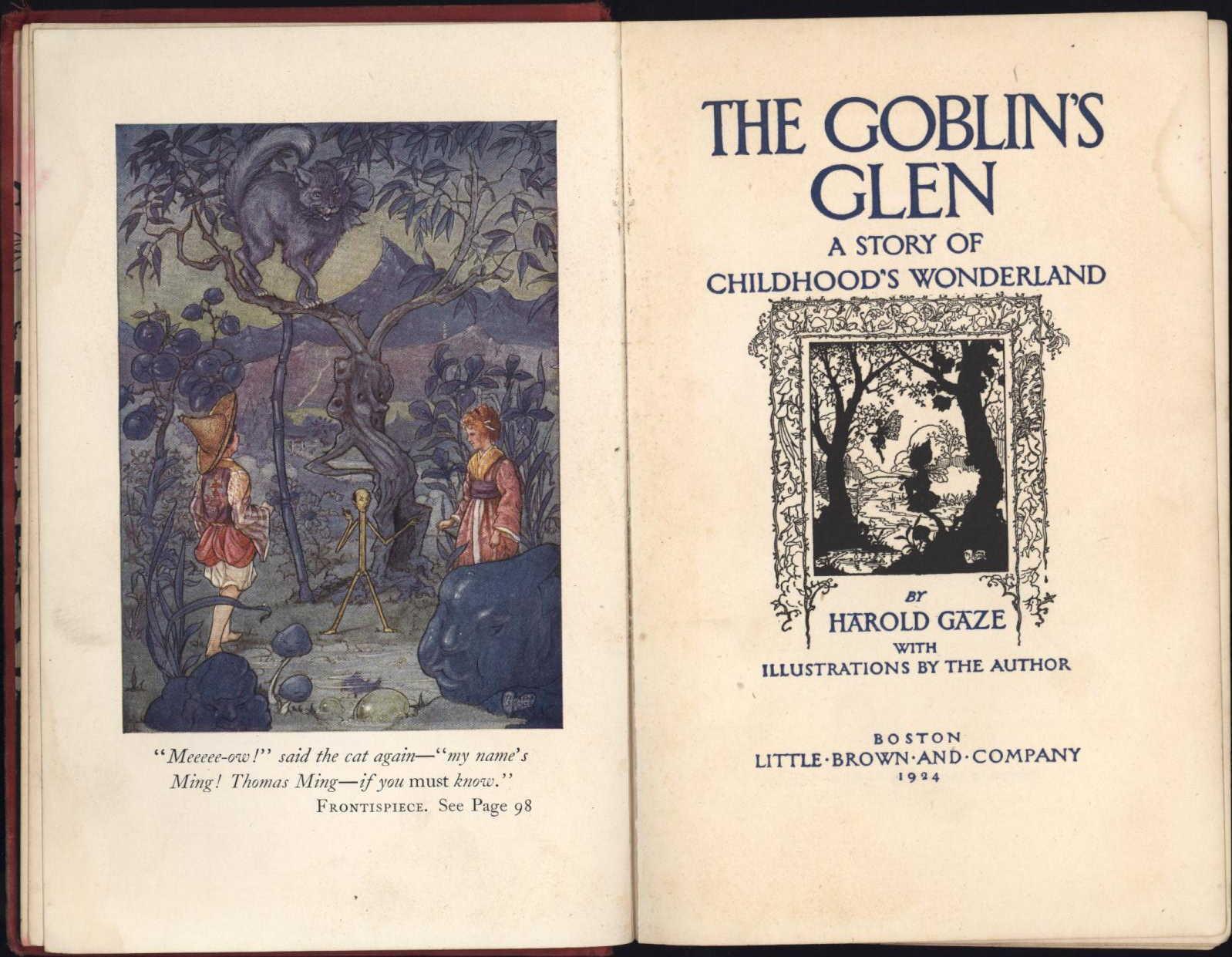 Harold Gaze Goblins Glen 1st ed title page