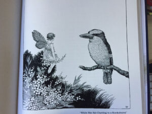 Ida Rentoul Outhwaite Fairyland Chatting with a Kookaburra sm
