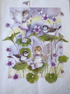 Jan Wade Australian Bush Fairies Native Violet sm