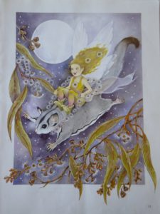 Jan Wade Australian Bush Fairies Spotted Gum with Sugarglider
