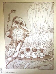 May Gibbs Snugglepot Cuddlepie Kookaburra Lecture sm
