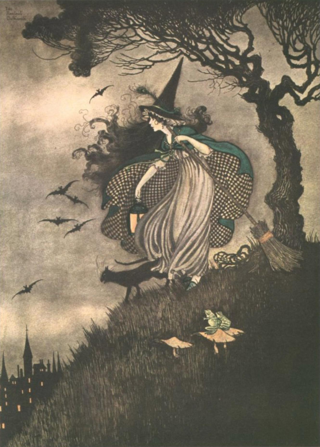 ida rentoul outhwaite elves fairies witch