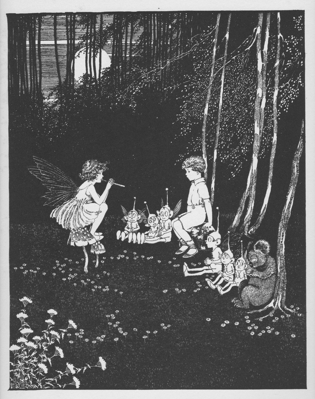 ida rentoul outhwaite fairyland the concert