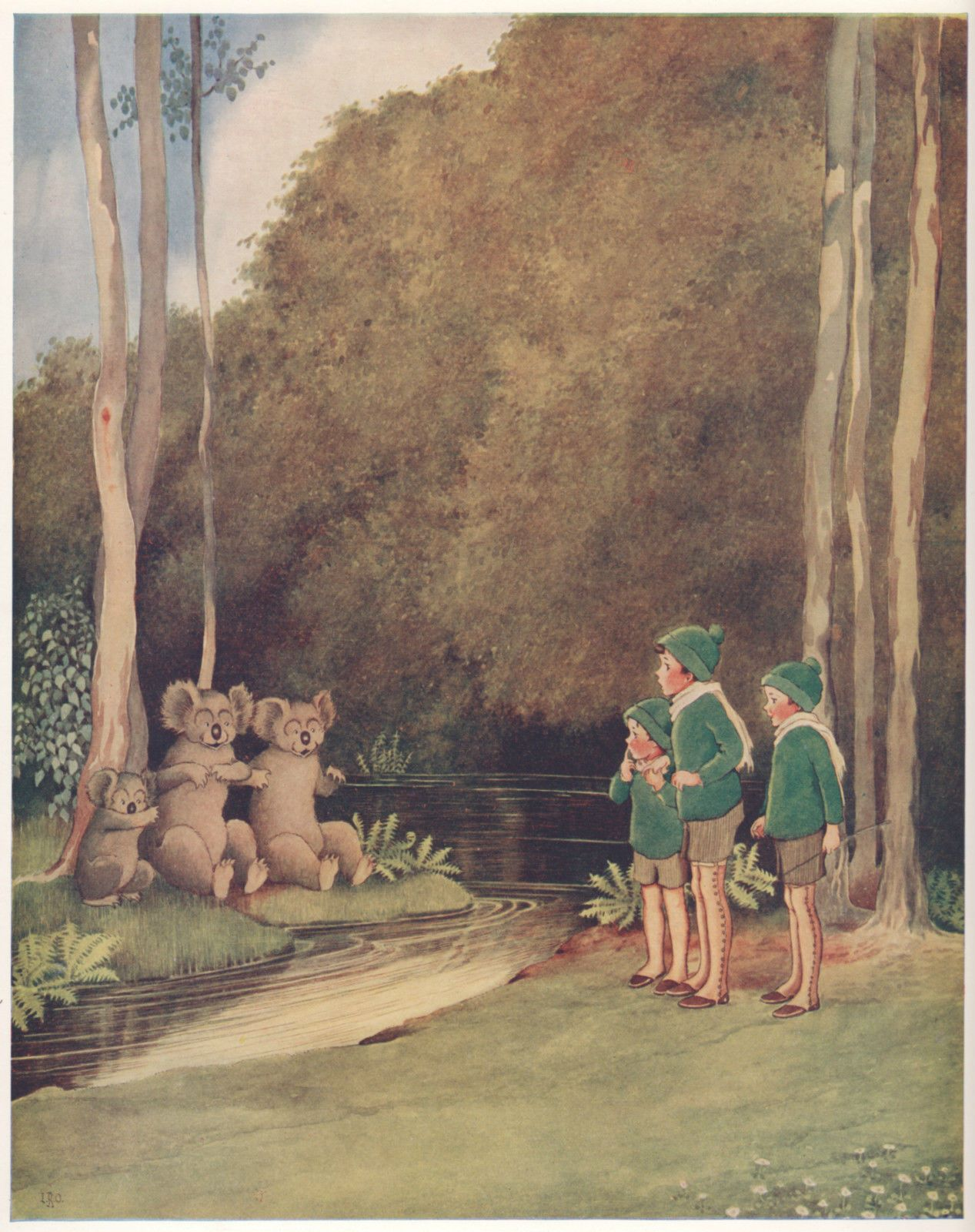 ida rentoul outhwaite fairyland three bears