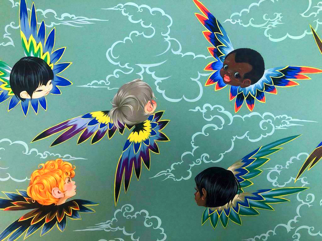 Angel Children Endpaper design by GJT