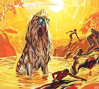 Angus McBride Beasts Bunyip illus