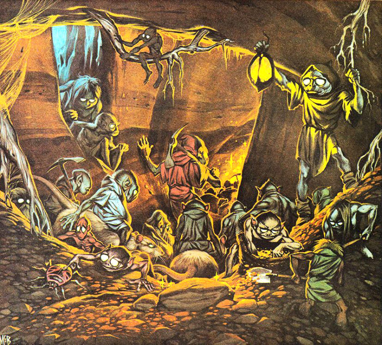 Angus McBride Beasts Gnomes illus