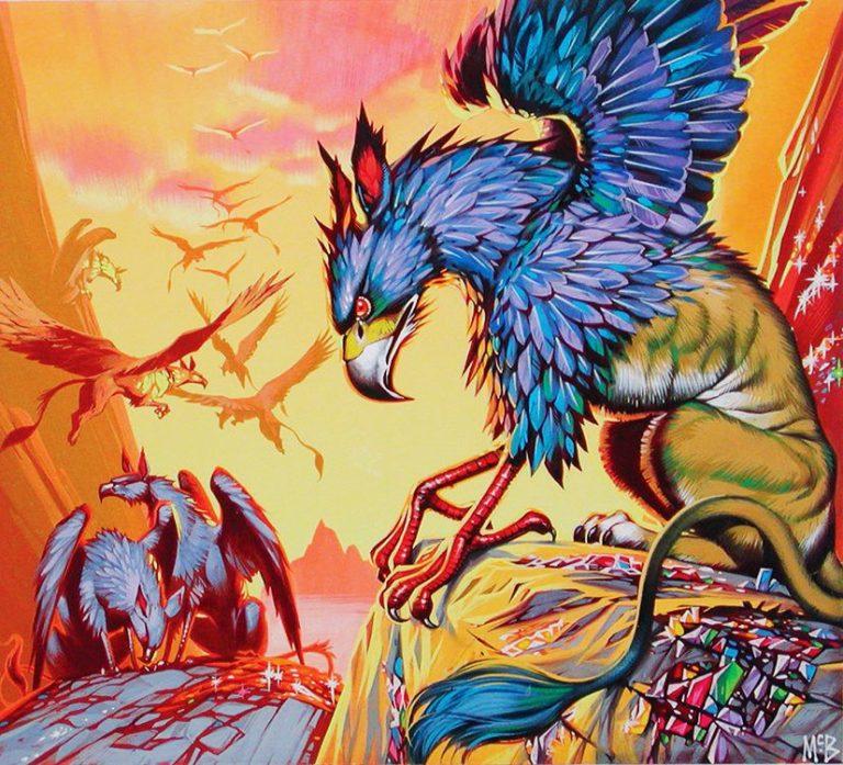 Angus McBride Beasts Gryphon illus