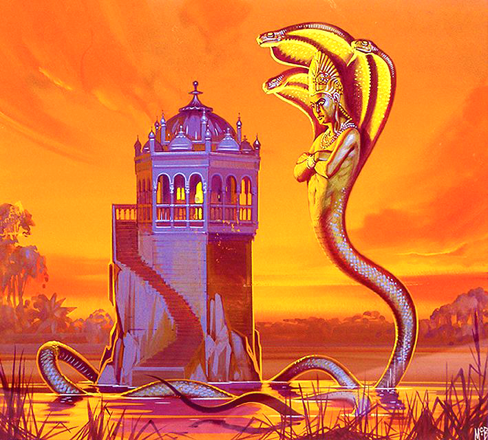 Angus McBride Beasts Naga King illus