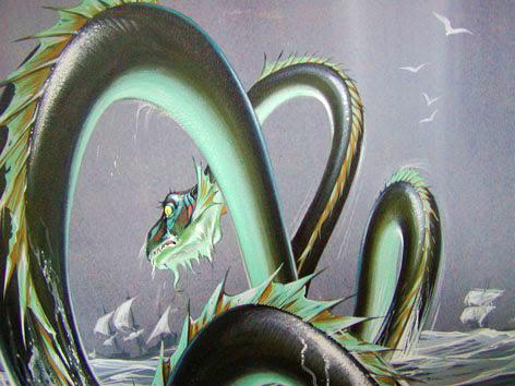 Angus McBride Beasts Sea Serpent illus