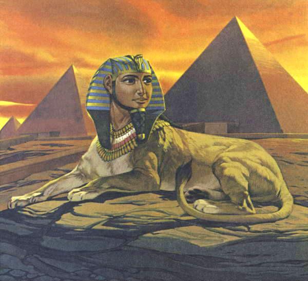 Angus McBride Beasts Sphinx illus
