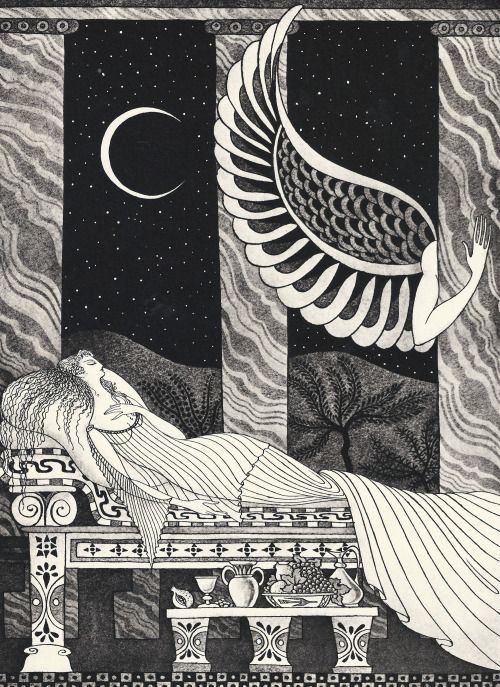 Errol Le Cain Cupid and Psyche illus