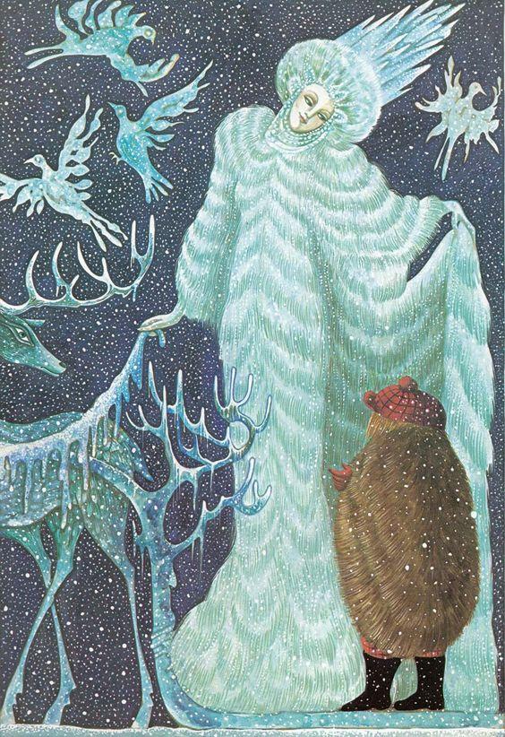 Errol Le Cain Snow Queen illus