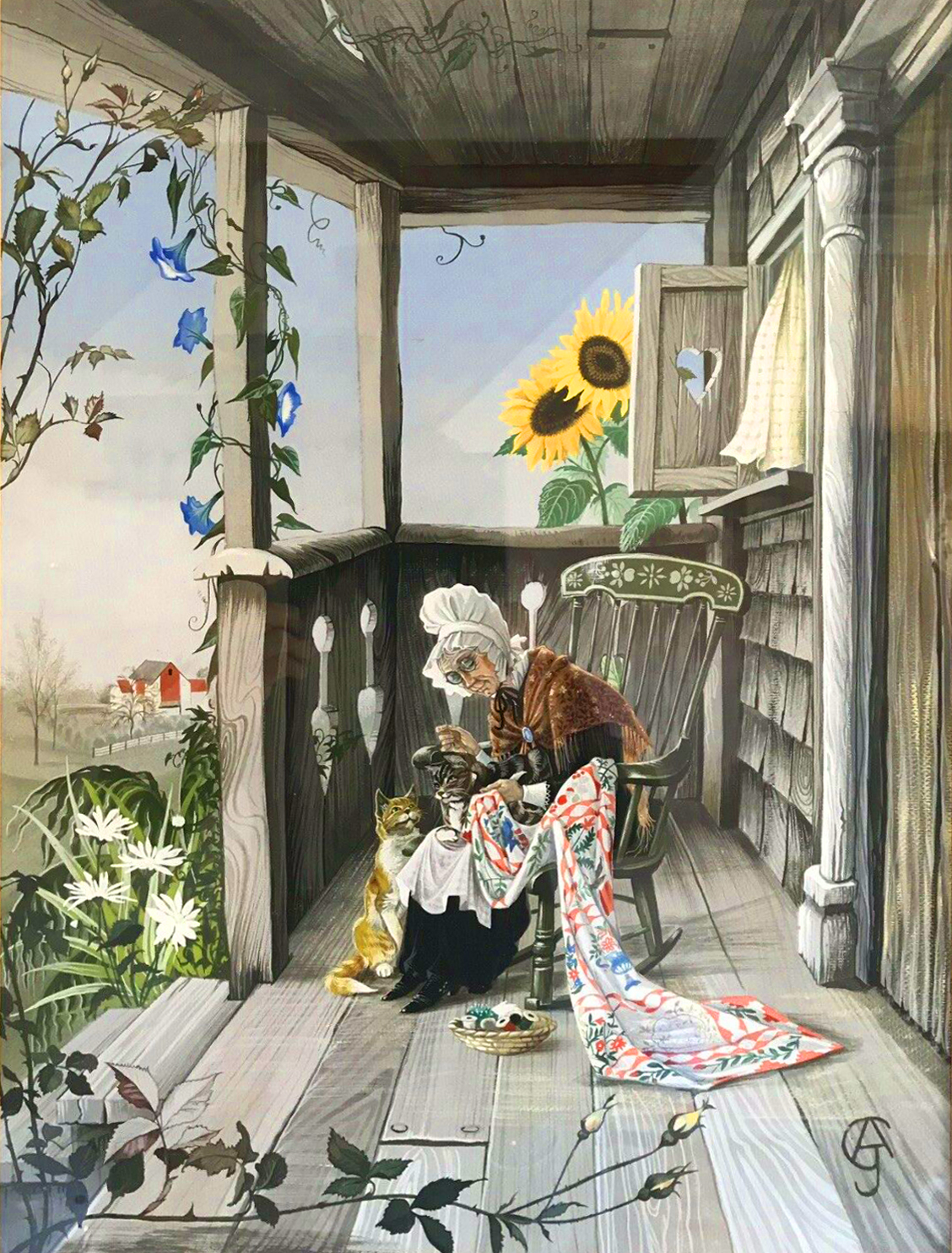 The American Quilt painting by Anne Grahame Johnstone