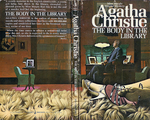Agatha Christie Tom Adams Body in the Library Pocket Books