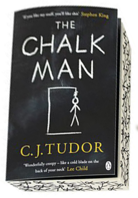 CJ Tudor The Chalk Man Decorative Sprayed Page Edges