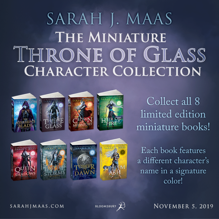 Sarah J Maas Miniature Throne of Glass announcement