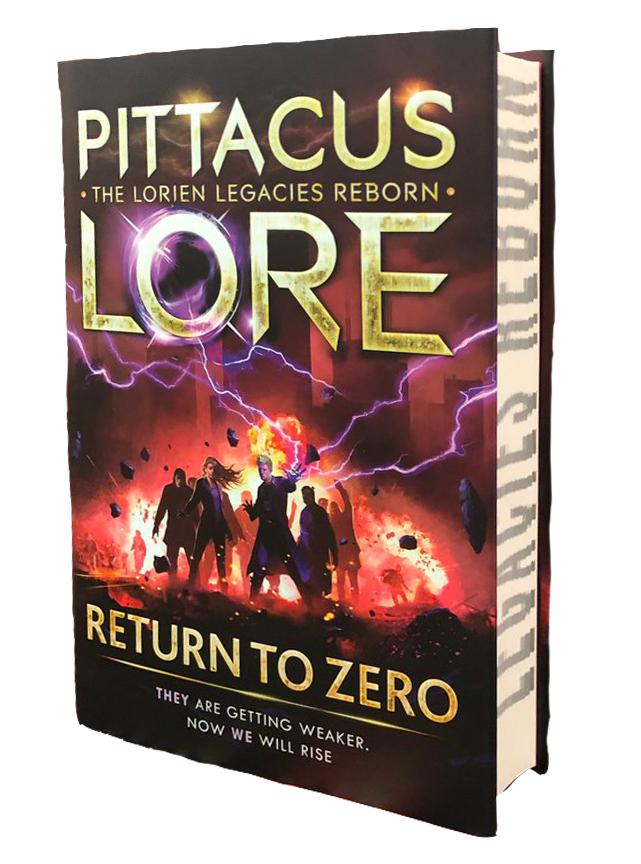 pittacus lore return to zero sprayed edges