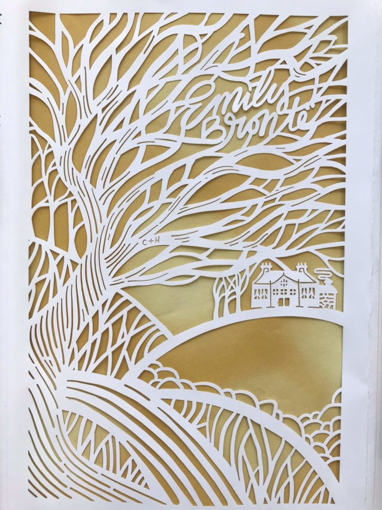 seasons edition emily bronte wuthering heights cut paper