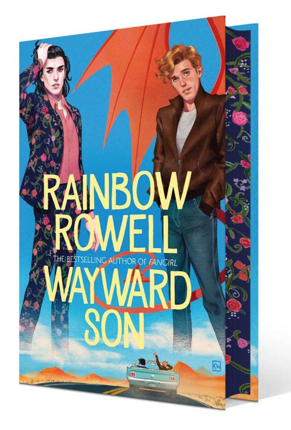 rainbow rowell wayward son waterstones sprayed edges
