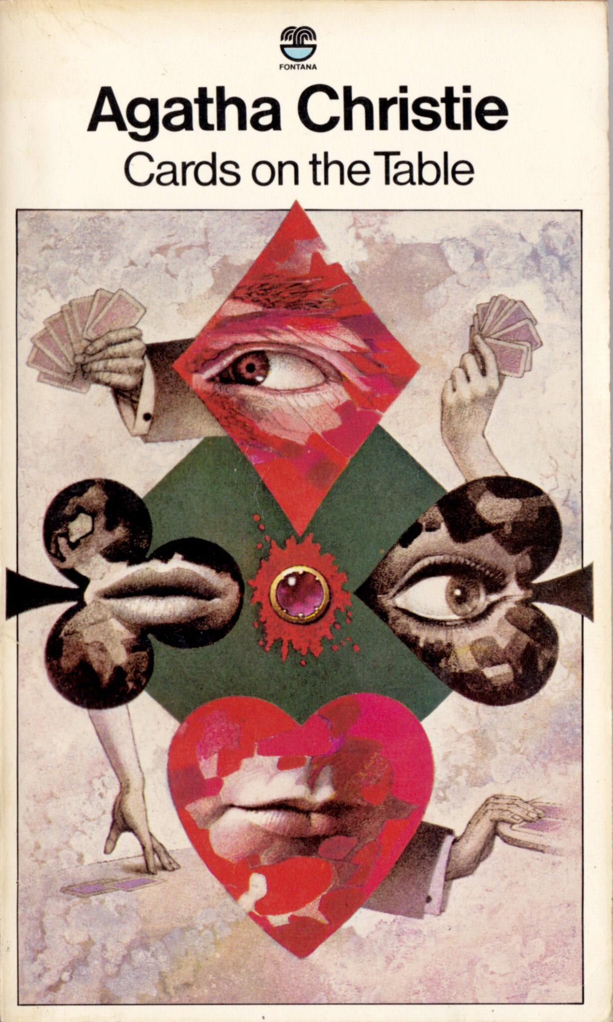 Agatha Christie Tom Adams Cards on the Tables Fontana UK 1976