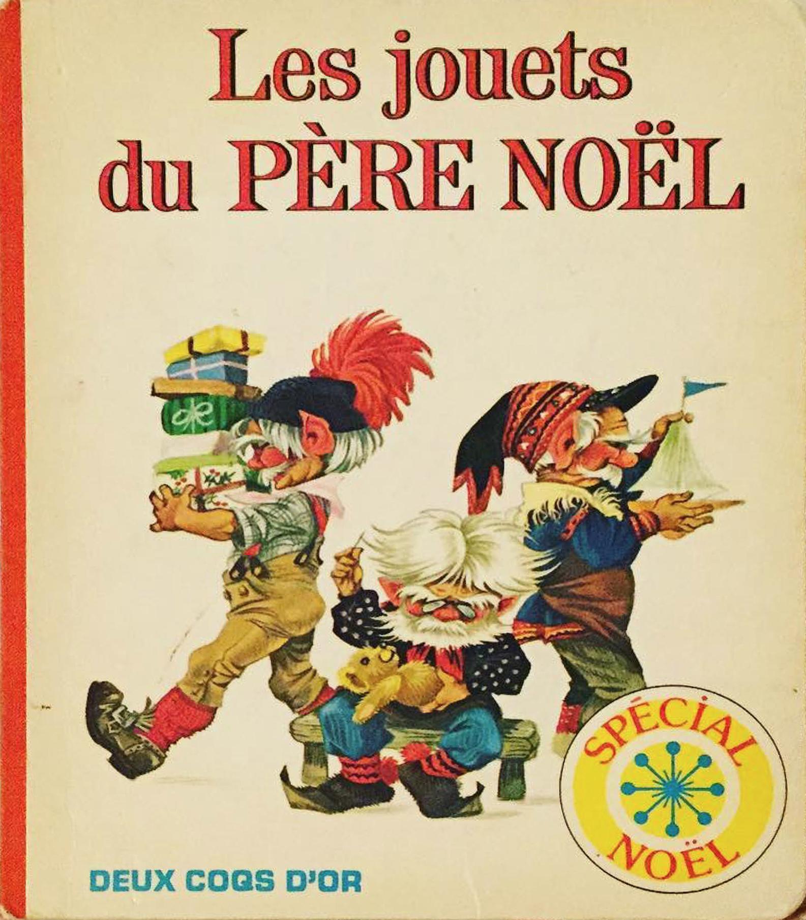 GJT French Les jouets du pere noel Santas Toy Shop deux coqs dor 1981