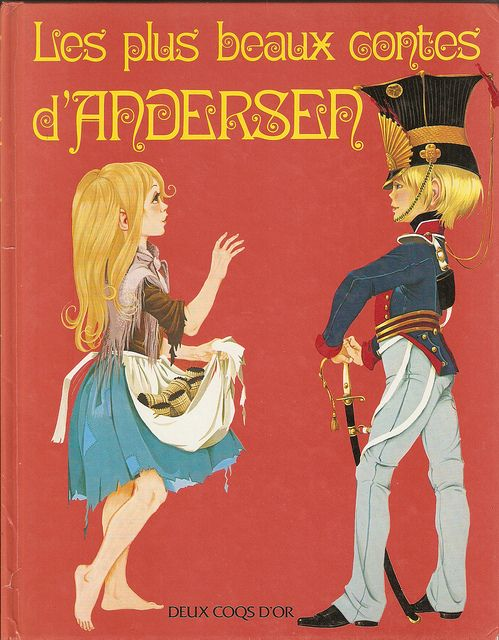 GJT French Les plus beaux contes dandersen 1980 gift book of hans andersen fairy tales