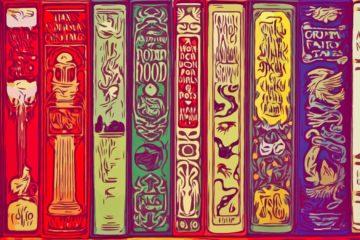 bookshelf font background image