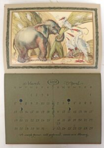 2000 CVS animal wisdom calendar march april