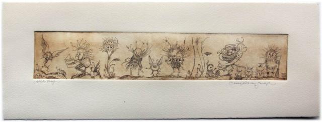 Will of the Wisps etching [wee fairy folk] (Charles van Sandwyk, 2011)