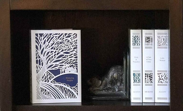 seasons editions in bookshelf