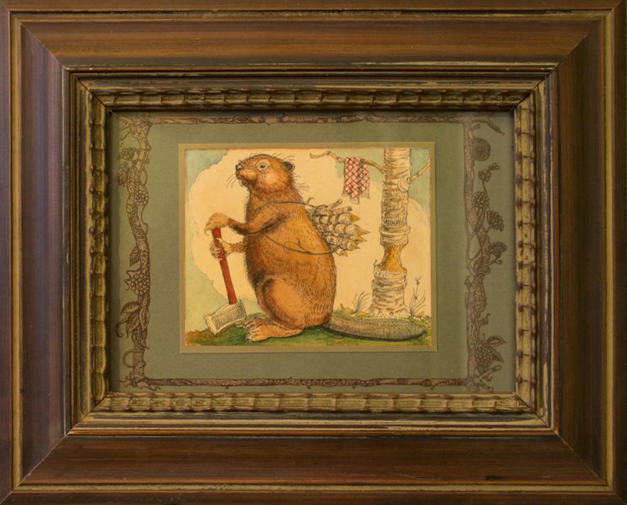 CVS Framed Art Card Beaver Working XBW Canadian Content 1